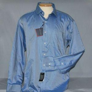 Tommy Hilfiger Men's Dress Shirt Size 17.5 34-35